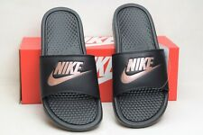 18ed1afe4 Nike Benassi Just Do It Women s Sandals Slides Black Rose Gold 343881 007  ...