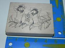 Stampa Rosa House Mouse Rubber Stamp - Angel Delights Mudpie Monica #387 Holiday