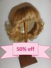 50 DISCOUNT - Human Hair DOLL WIG size 13 33 cm Short dark blond hair. BRAVOT