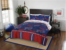 Buffalo Bills Nfl Queen Comforter & Logo'd Sheets (5 Piece Bed In A Bag)