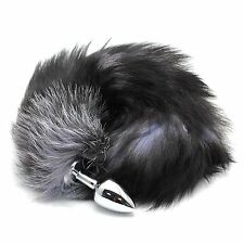 Sexy Unisex Stainless Steel Plug Faux Fox Tail Toy Fancy Funny Cloth Accessories