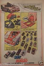PUBLICITÉ 1980 KIT SOLIDO MINIATURE EN MÉTAL AU 1/43 - ADVERTISING