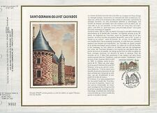 FEUILLET CEF / DOCUMENT PHILATELIQUE / SAINT GERMAIN DE LIVET CALVADOS 1986