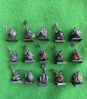 Games Workshop Dwarf Regiment Skull Pass Axe Warhammer WFB OOP Citadel x15 GW