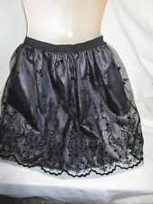 Black Net Skirt, Fully Lined, Self Fabric Trim, Elastic Waist, Size 8, Exc Cond