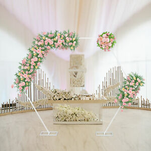 Heavy Duty Wedding Arch Frame Backdrop Stand Free Standing Birthday Party Props