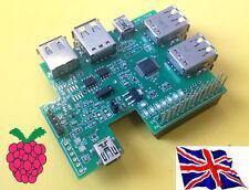 Rs-Pi 7 Ports USB HUB - Multi-function I2C RTC Board for Raspberry Pi