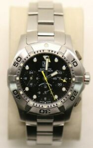 Tag Heuer BLACK Aquagraph Watch Mens CN211A. AUTOMATIC Calibre 60 Silver - Used