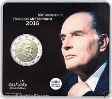 """Pièce 2 euros commémorative FRANCE 2016 - """"François Mitterrand"""" - Qualité BU"""