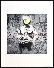 Banksy Riot COP Poster Art Imprimé Image dans le cadre alu noir 28x36cm