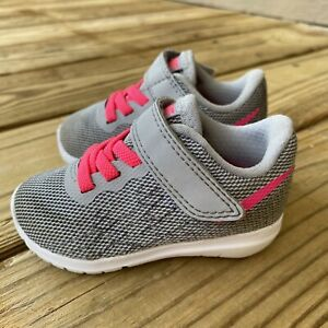 Nike Toddler Baby Gray 820289-002 Hook And Loop Sneaker Athletic Shoes Size 4C