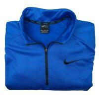 Nike Men's 2XL Blue 1/4 Zip Pullover Long Sleeve Fleece Sweater Golf 836515