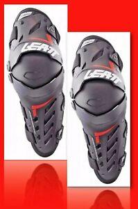 LEATT Pair Knee & Shin Guard Dual Axis Black / Red - L/XL: 5017010181