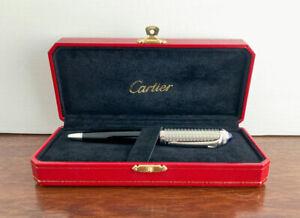 Cartier Roadster Circular Graine Decor Ballpoint pen. Boxed. Mint.