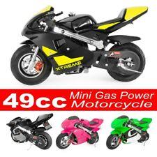 Black 49CC Motorcycle Bike 4-Stroke Engine Mini Gas Power Pocket Bike for Kids and Teens US,Sanycool,US in Stock