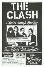 The Clash *POSTER*  Live PUNK ROCK Concert - Bo Diddley - MUST SEE Photo