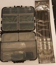 Carp Fishing Tackle Box Set 4 Carp Fishing Weights Safety Clips Hooks Hair rigs