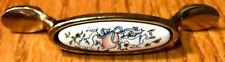 International MARMALADE Geese Ceramic On Brass Cabinet Handle Pull Pkg NOS