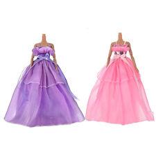 "1 Pcs Fashion Satin Widding Dress for 11"" Barbies Dolls Color Random Pl"