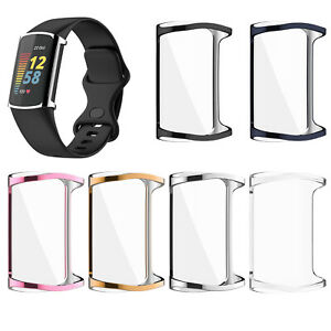 For Fitbit Charge5 Smart Watch Plating Protective Case TPU Screen Protector