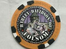 Harley Poker Chip    HD of FOLSOM   FOLSOM, CA    TAN