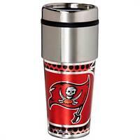 Tampa Bay Buccaneers Tumbler 16 oz Stainless Steel mug Plastic Insert Travel