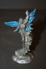 GALLO 92 SIGNED RIDOLFI PAINTED WING PEWTER FAIRY FIGURINE