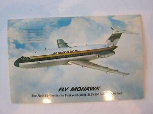Mohawk Airlines One Eleven Fan Jet Postcard