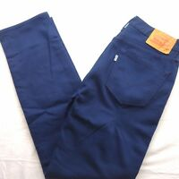 New Levi's Mens 511 1826 Dark Navy Blue Slim Fit Stretch Denim Jeans Sz 32 x 32