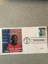 MICHAEL JORDAN Cachet 1998 FIRST DAY ISSUE Organ Donor 32 cents