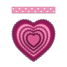 Heartfelt Creations Spellbinders Die ~ EYELET HEARTS ~ HCD1-7162