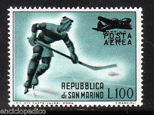 W152 SAN MARINO Posta Aerea 1956 Sovrastampato      MNH**