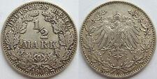 TOP! 1/2 Mark 1909 J in SEHR SCHÖN SELTEN !!!