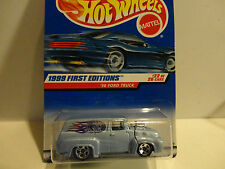 Hot Wheels #927 Light Blue '56 Ford Truck w/5 Spoke Wheels & HW's Logo