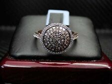 Womens Ladies Chocolate Color Diamond Ring 14K Rose/Pink Gold Round Cut 0.75Cts