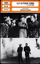 3H10 POUR YUMA - Heflin,Ford ,Farr (Fiche Cinéma) 1957 - 3:10 to Yuma