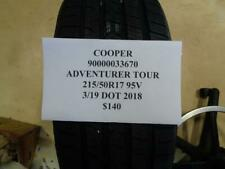 1 NEW COOPER ADVENTURER TOUR 215 50 17 95V TIRE WO LABEL 90000033670 Q9