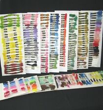 Lot of  250 Skeins  Cotton Cross Stitch Embroidery Floss Thread Multi colors