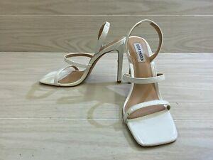 Steve Madden Gracey Slingback Heels, Women's Size 8.5M, White Patent NEW