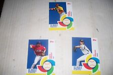 3 different 2009 Topps World Baseball Classic insert cards lot – Stars included