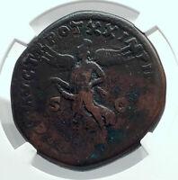 MARCUS AURELIUS Authentic Ancient 166AD Rome SESTERTIUS Roman Coin NGC i78525