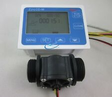 "G1"" Flow Water Sensor Meter+Digital LCD Display Quantitative Control 1-60L/min"