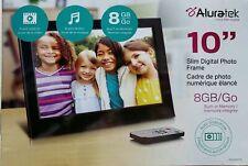 "ALURATEK 10"" SLIM DIGITAL PHOTO FRAME BLACK 8GB/Go BRAND NEW (opened box)"