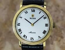 Waltham Vintage 1980s Mens Manual Swiss Made Manual Gold Plated Dress Watch Y54