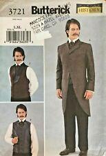 Butterick History Men's Historical Costume Pattern 3721 Size L-XL UNCUT