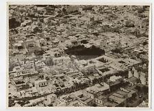 Tunis : vue aérienne de la Medina, c. 1935 - Photo ancienne Tunisie