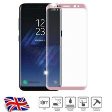 Curved Rose Gold 3D Tempered Glass screen protector for Samsung Galaxy S8 Plus