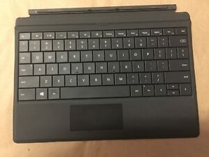 Microsoft Surface 3 Type Cover Black Backlit Keyboard - (Fits Surface 3) BLACK