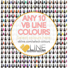 VB™ Line Any 10 Colours Nail Gel Polish, Top and Base coat available Starter set