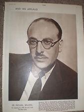 Photo article Ealing Film Studio boss Sir Michael Balcon 1950